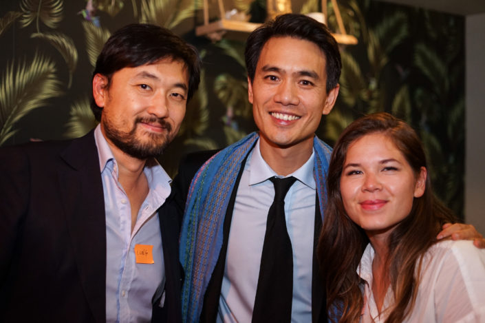 Julie Hamaide, Olivier Truong et Long Liu - Membres C100 - ASEAN